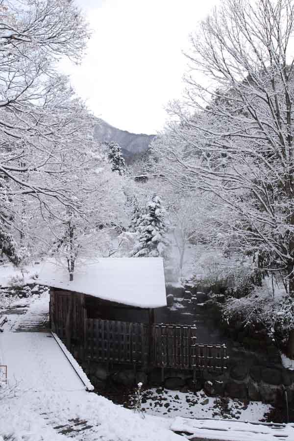 きむら苑/露天風呂/雪の朝