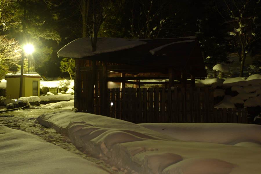 雪見風呂/夜